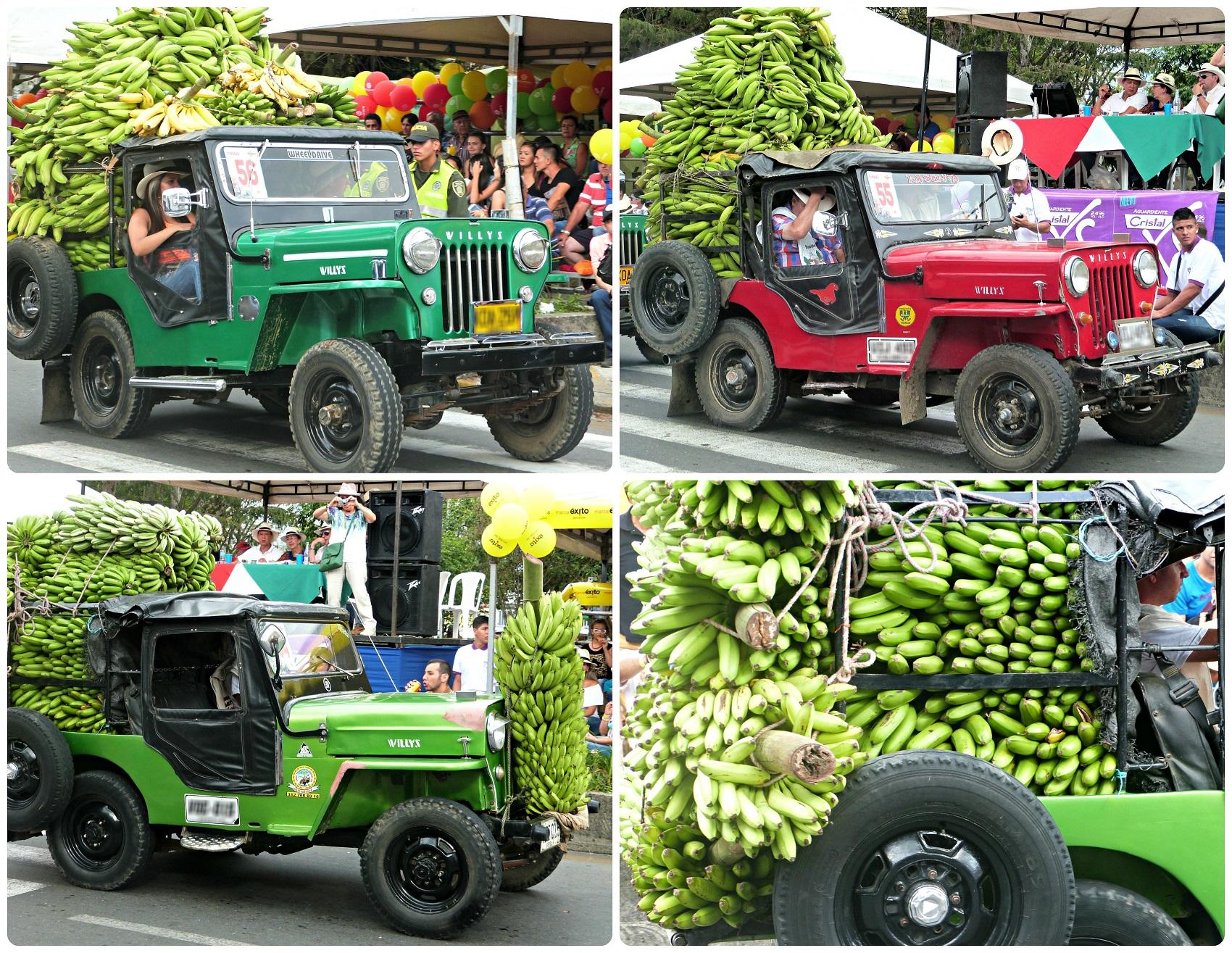4 jeeps dans cette catégorie au défilé Yipao à Armenia