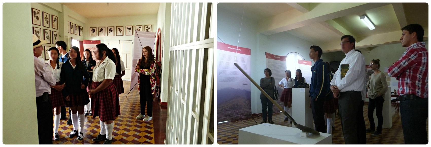 Élèves d'un lycée lors de l'inauguration de l'expo Tempo à Aguadas