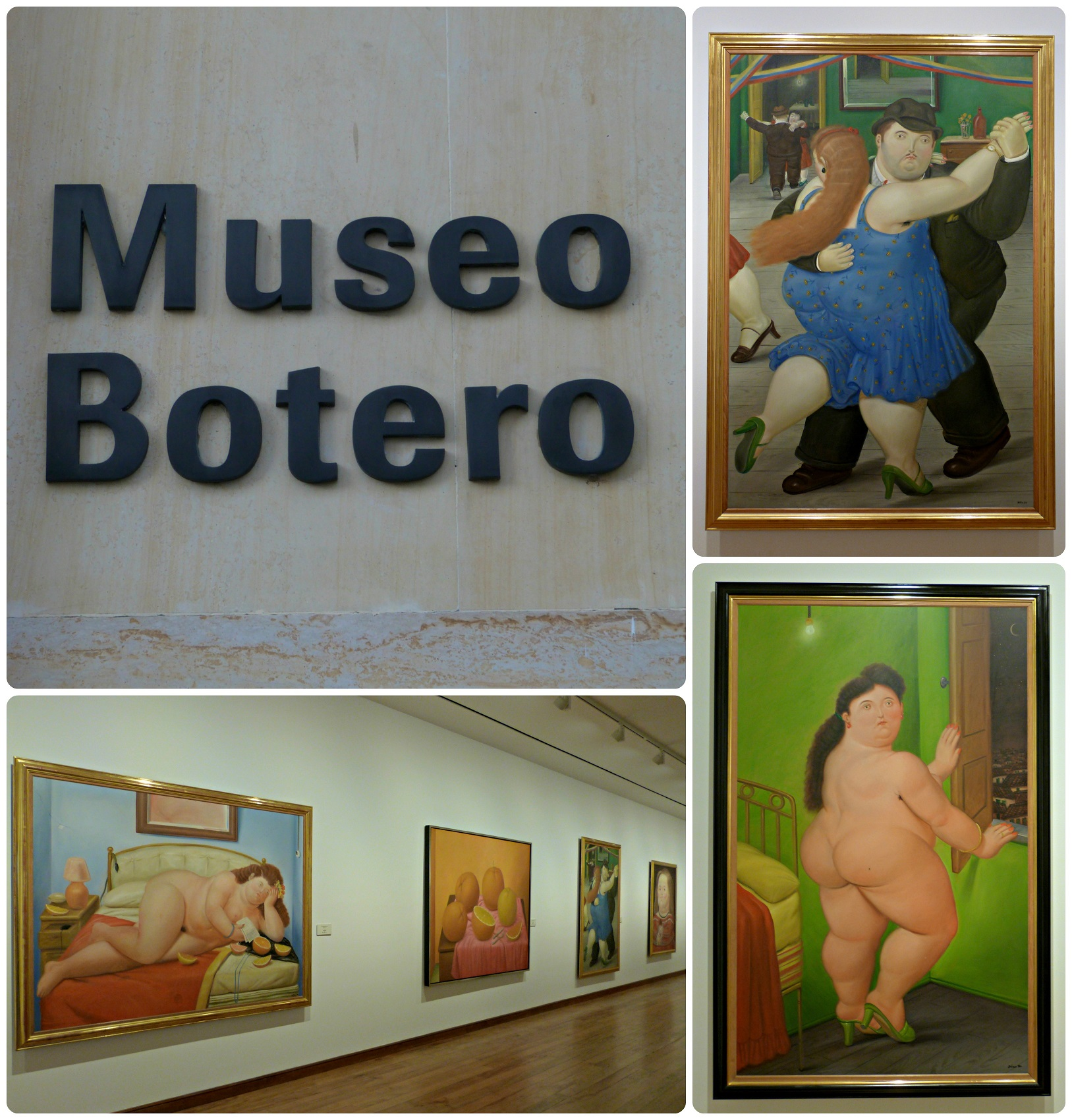 Cuadros de Botero del Museo de Arte de Bogotá