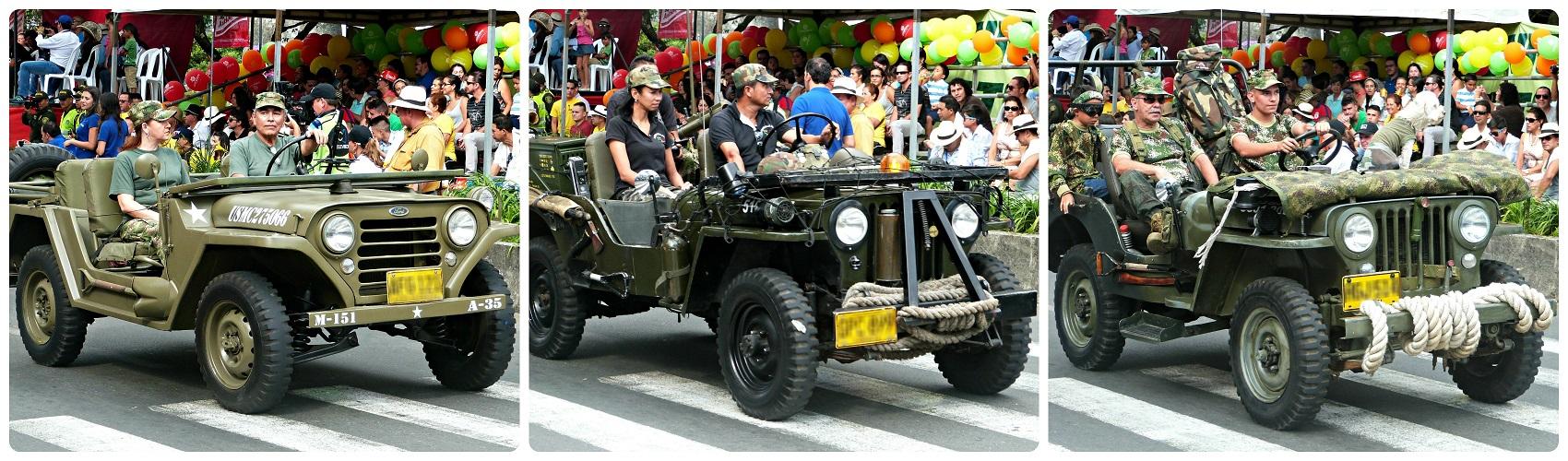 Voitures militaires au défilé Yipao à Armenia