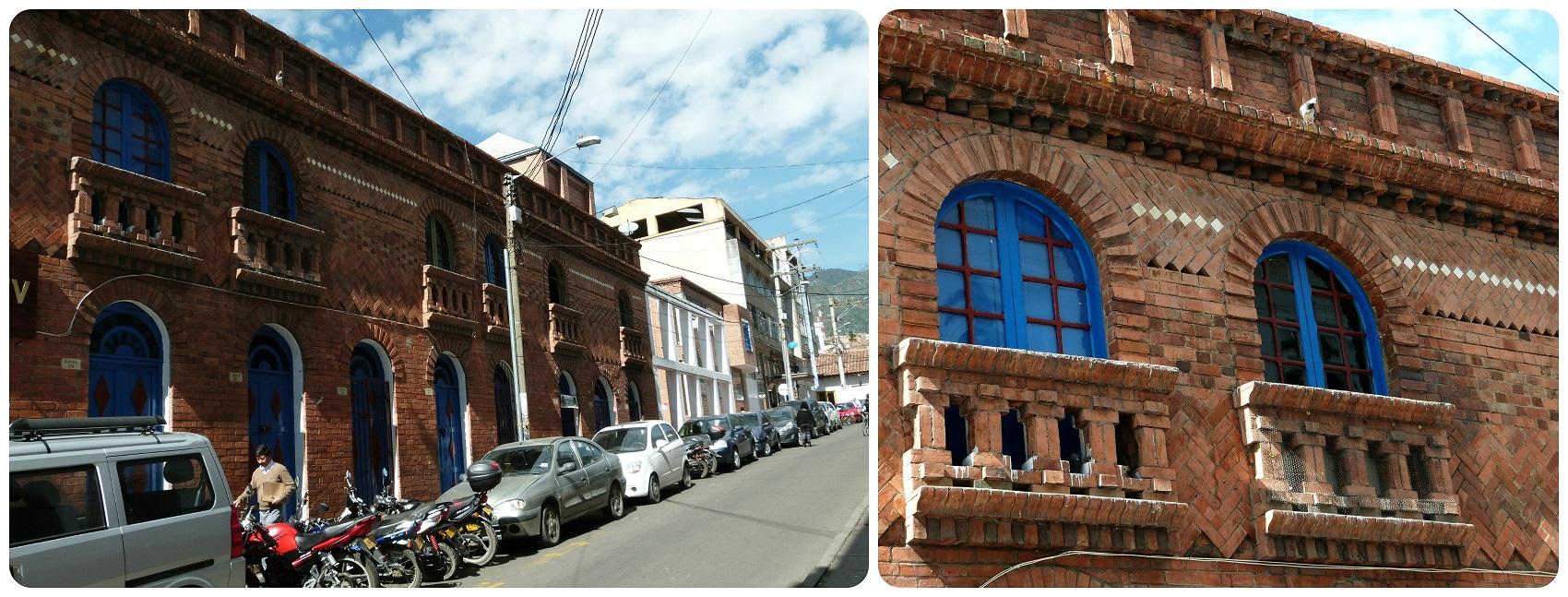 Zoom sur les fenêtres d'un bâtiment de Zipaquira