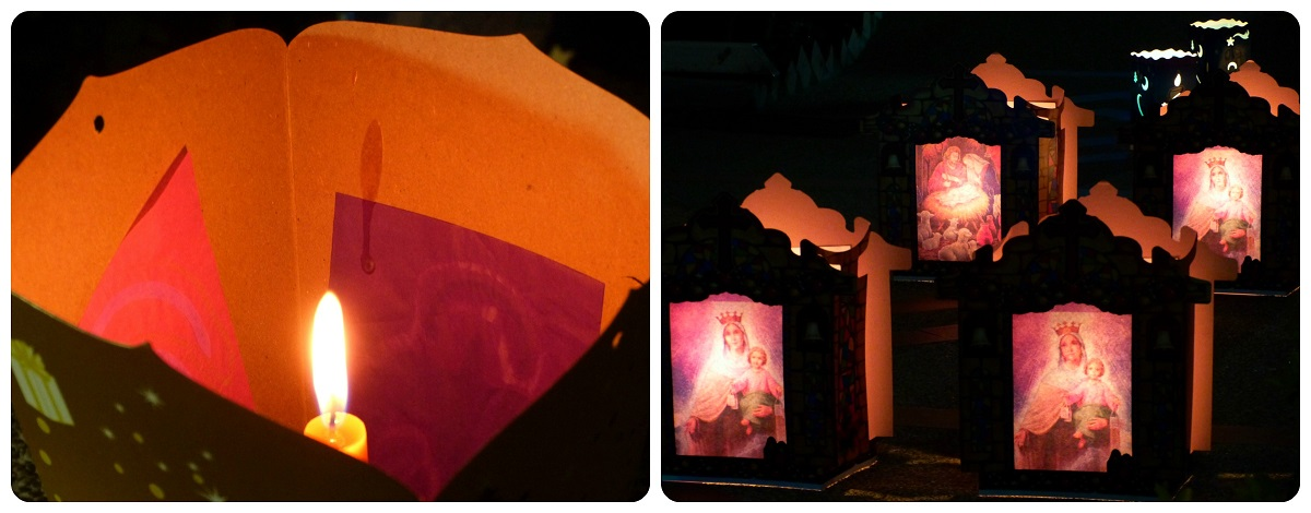 llama de una vela durante el día de las velitas en Armenia