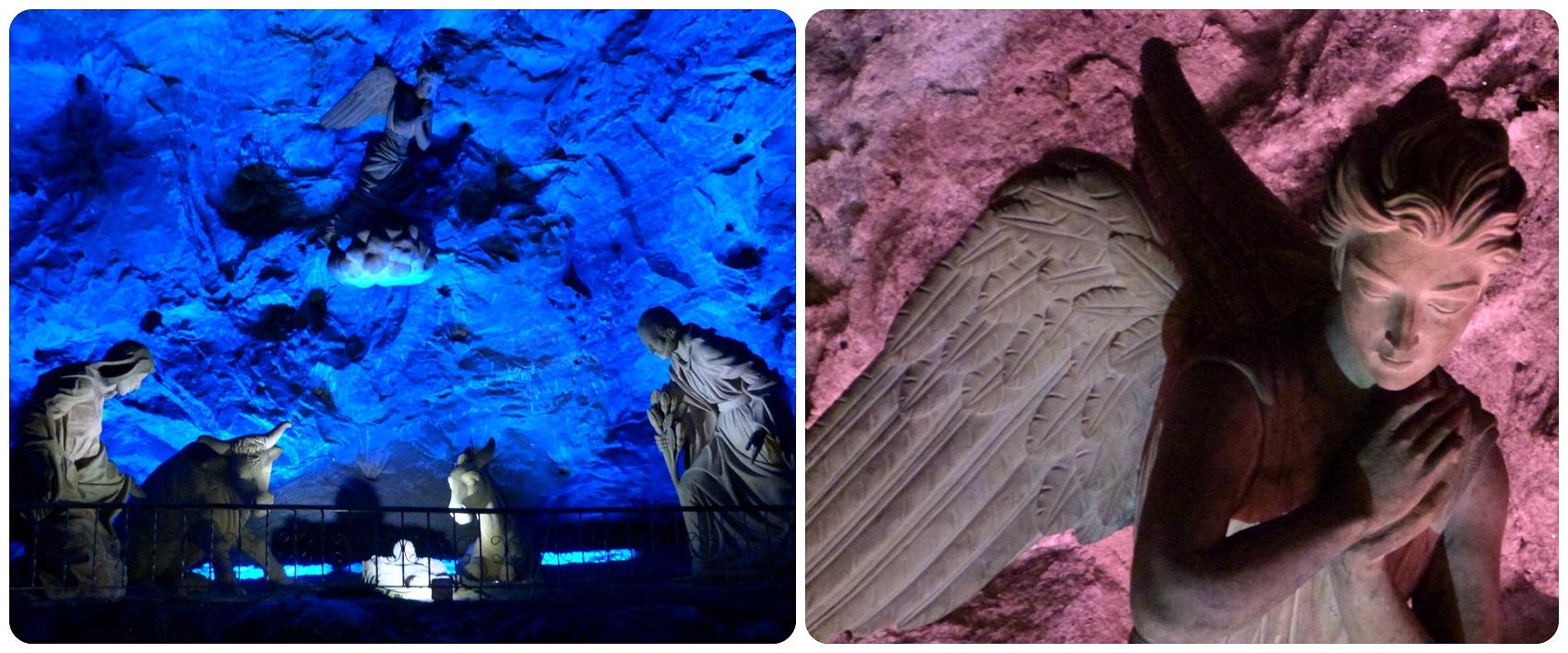 Sculpture de La Nativité dans la cathédrale de sel de Zipaquira