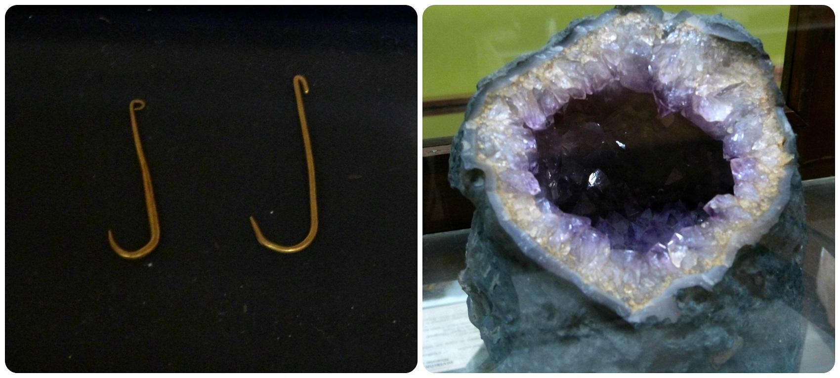 Piezas expuestas en el Museo de historia natural de Popayán