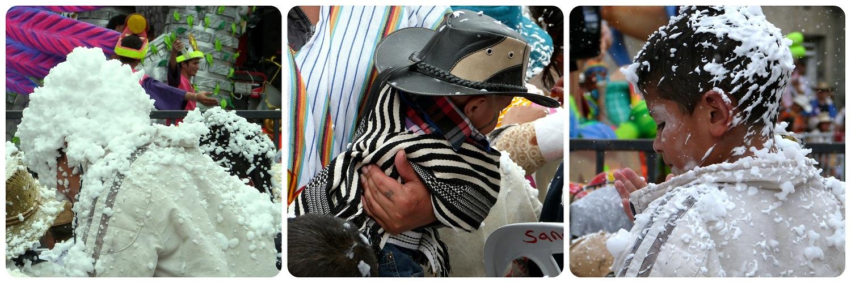 niños en el público del carnaval de Pasto