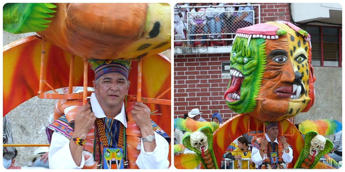 personaje en el carnaval de Pasto