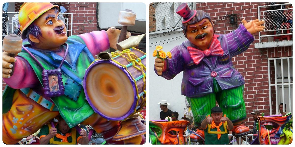 personaje en el desfile del carnaval de Pasto