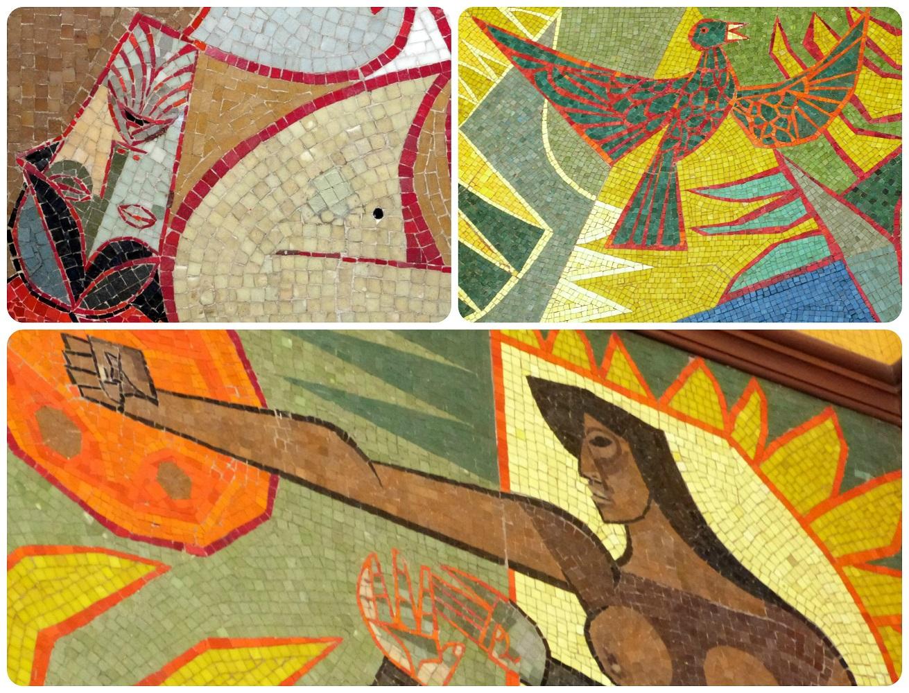 detalles del mosaico del Palacio Presidencial de Quito
