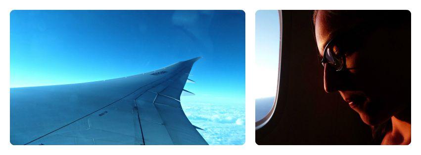 Vue de l'aile de l'avion