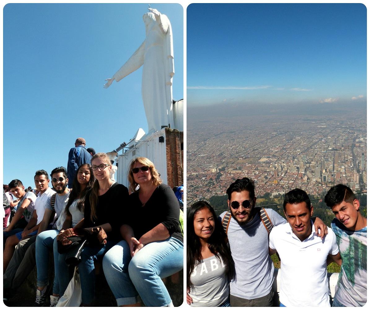 Nosotros en lo alto de Guadalupe en Bogotá