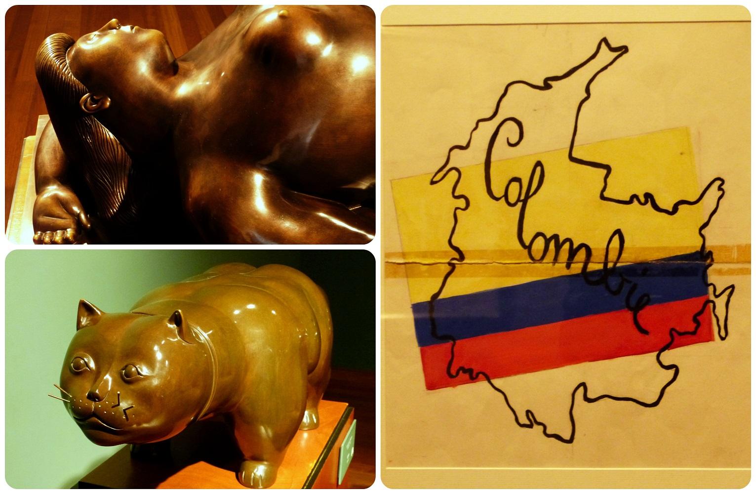 cuadro y esculturas en el Museo Botero de Bogotá