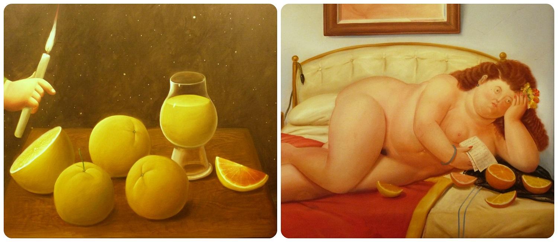 cuadros en el Museo Botero de Bogotá