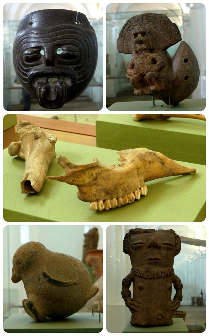 objetos precolombinos en el Museo nacional de Colombia de Bogotá